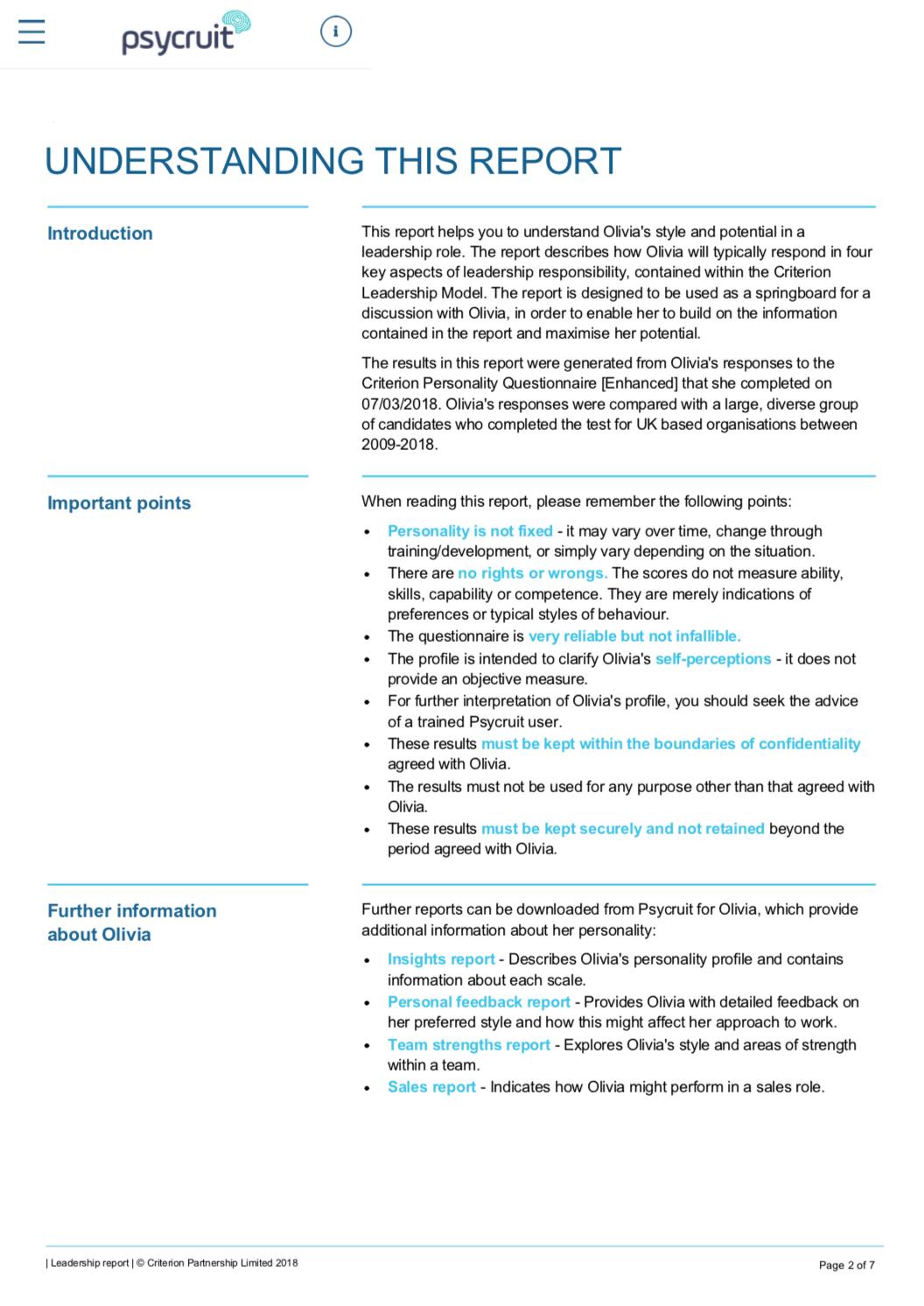 Leadership Model Overview